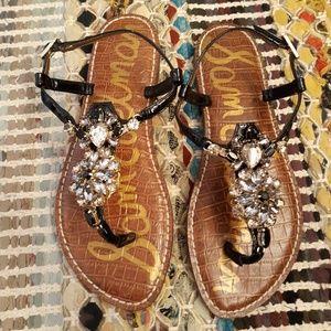 NWOT Sam Edelman Black Grayson Embellished Sandal